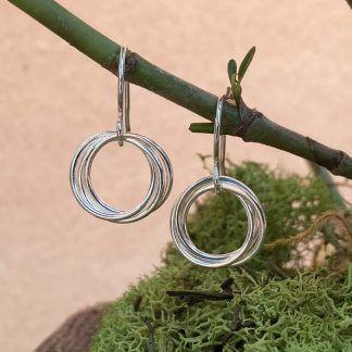 Intertwined Wirework Hoop Earring