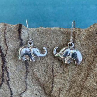 Sterling Elephant Dangle Earrings