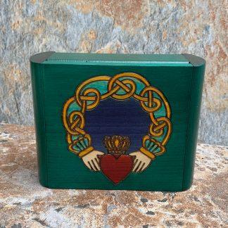Emerald Green Claddagh Box