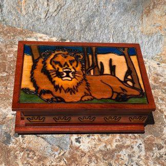 Lion Box with Secret Lock