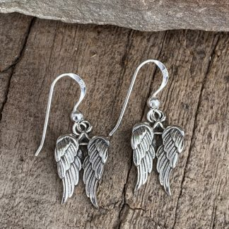 Sterling Angel Wing Earrings