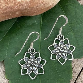 Sterling Blooming Lotus Earrings