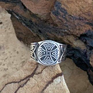 Sterling Canterbury Cross Ring
